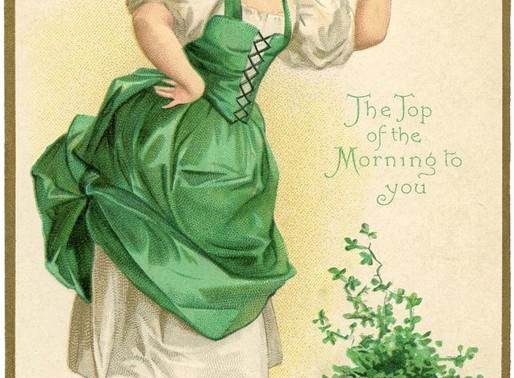 St. Patrick's Day, Floriography and Four Leaf Clovers