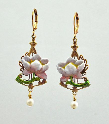 Divine Water Lily Earrings