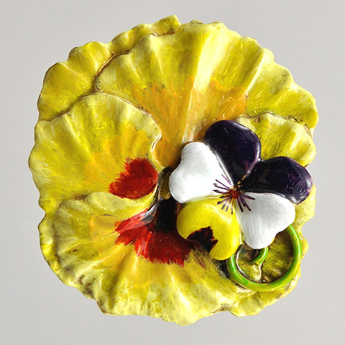 Wholesale: Garden Apricot Pansy Small Pin