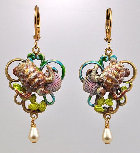 Wholesale: Tidal Sea Turtle Earrings