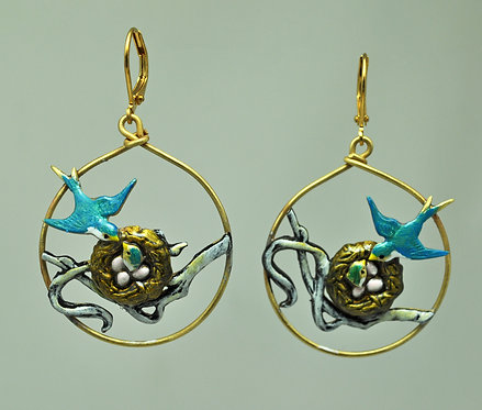 Swallow Family Earrings
