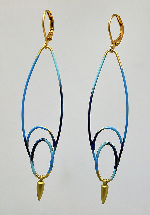 Wayfinding Earrings Indigo