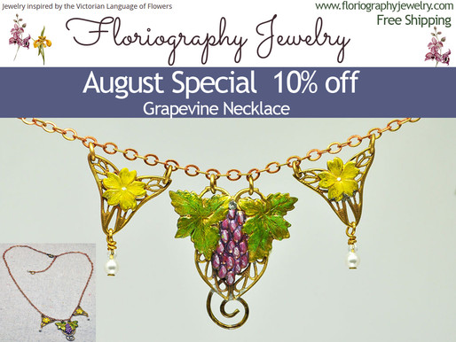 Floriography August Promo, Grapevine Necklace