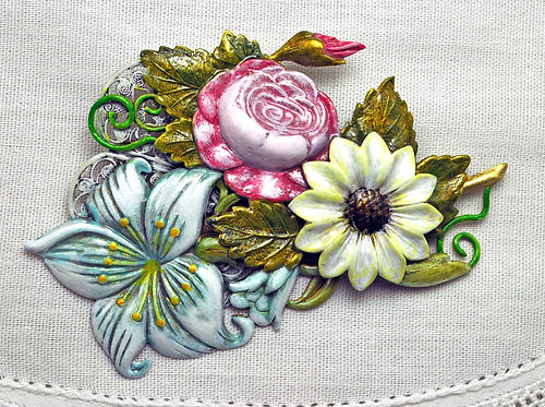 Garden Wedding Brooch