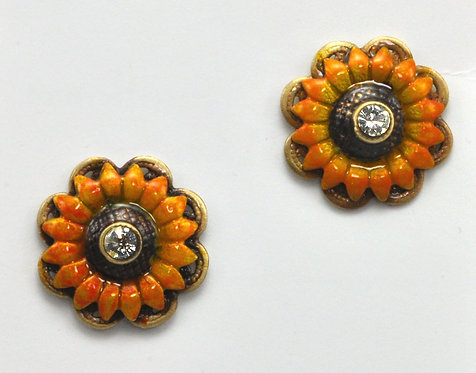 Wholesale: Garden Sunflower Post Earrings