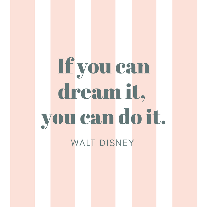Motivational quote from Walt Disney