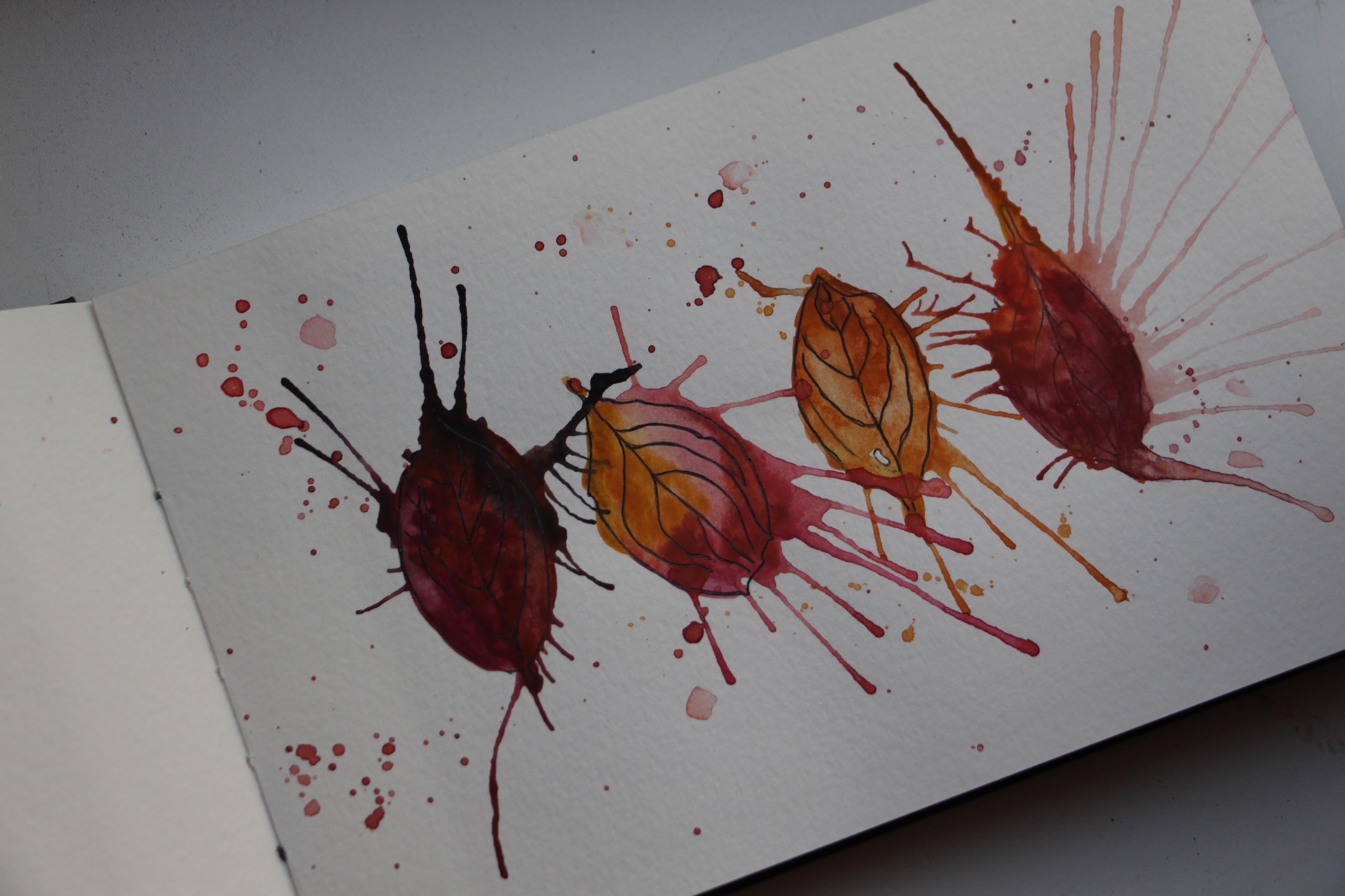 Autum Leaves Watercolor Angelina Dederer