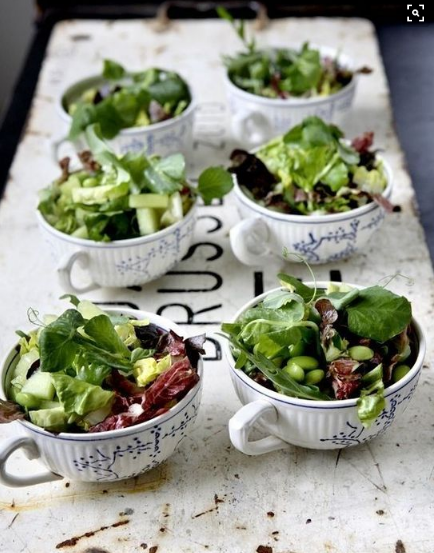 Brunch Decoration Serve Salad in Coffee Cups