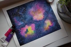 Cosmos Watercolor Angelina Dederer