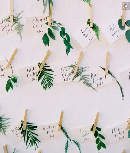Brunch Decoration Nameplates with Greens