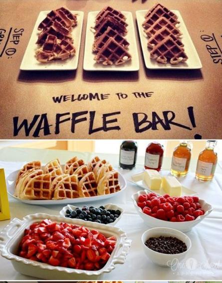 Brunch food Waffle Bar