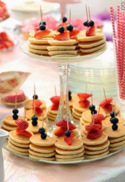 Brunch food Mini Pancakes