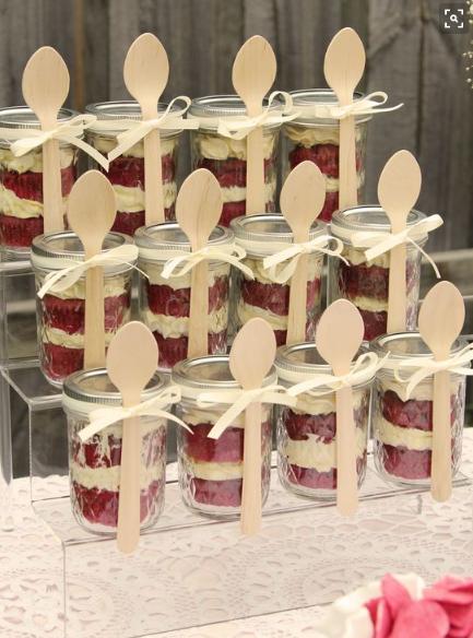 Brunch food Cake in Jars
