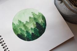 Forest Watercolor Angelina Dederer