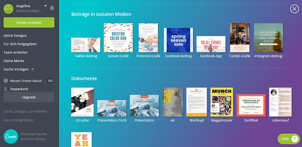 Canva is a great all-rounder for creating beautiful designs