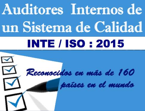 ¡Actualízate!: Auditor INTE/ISO:2015