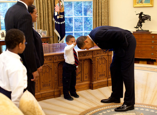 President Obama...your hair feels just like mine.