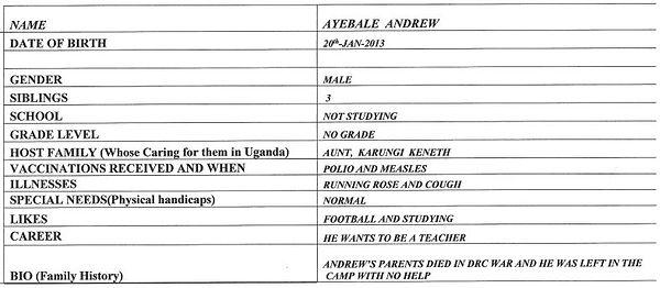 Andrew Ayebale January DOB Write Up.JPG