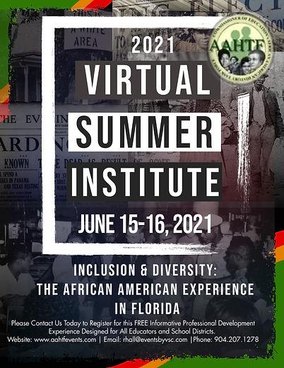 Final AAHTF Summer Institute 2021 Flier.