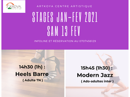 SAM 13 FEV Heels barre & Modern jazz