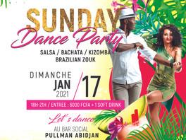 Dim 17 Jan 2021, SUNDAY DANCE PARTY.