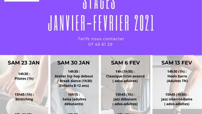 STAGES DANSES ET BIEN-ETRE 2021