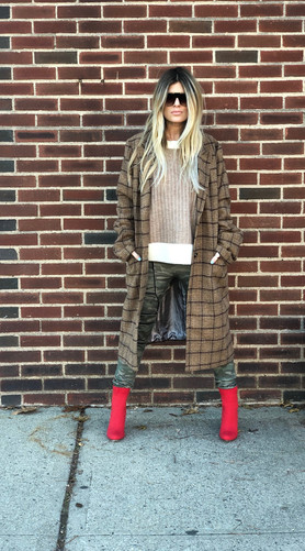 Plaid coat $76