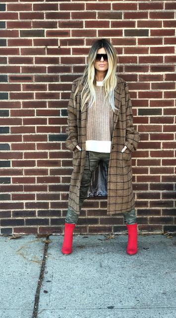 Plaid coat $76
