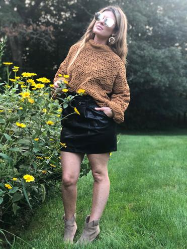 Chenille crochet sweater $62