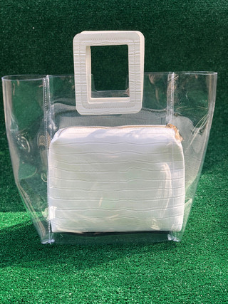 Lucite top handle $90