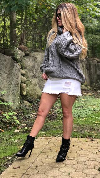 Turtleneck knit sweater $88