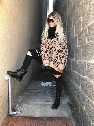 Leopard sweater $62