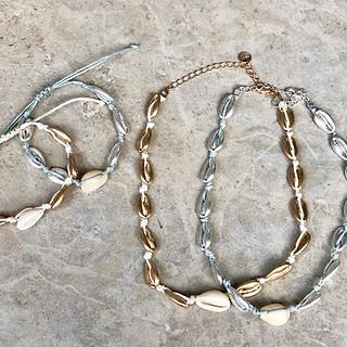 Shell bracelets & necklaces $28-$35