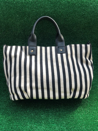 Striped slouchy tote $90