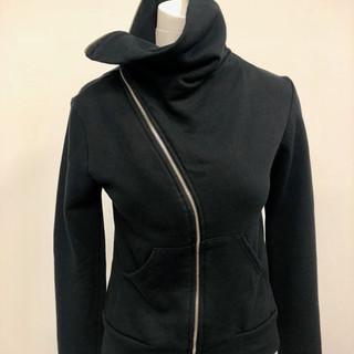 Black zip up sweatshirt