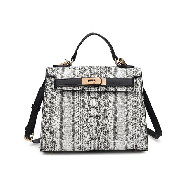 Faux snakeskin bag $70