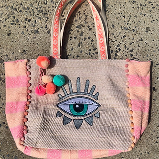 Evil Eye beach bag $80