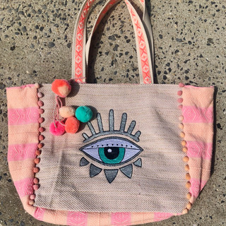 Evil Eye beach bag $80
