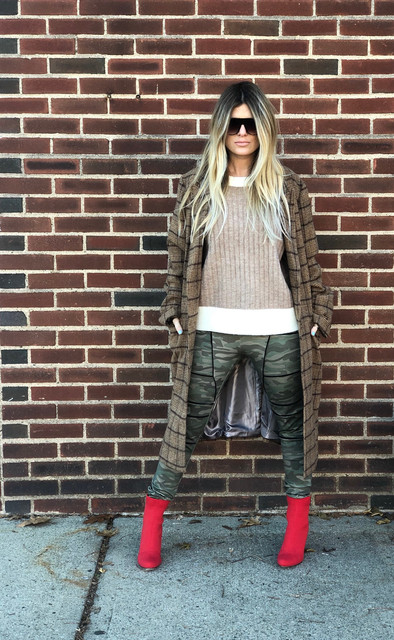 """Quay """"Drama By Day"""" sunnies $60; Fly knit booties $70"""