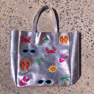 Handmade leather tote $220