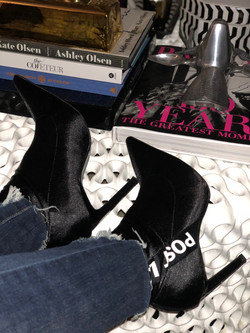 boots and coffee table