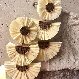 Raffia earrings $45