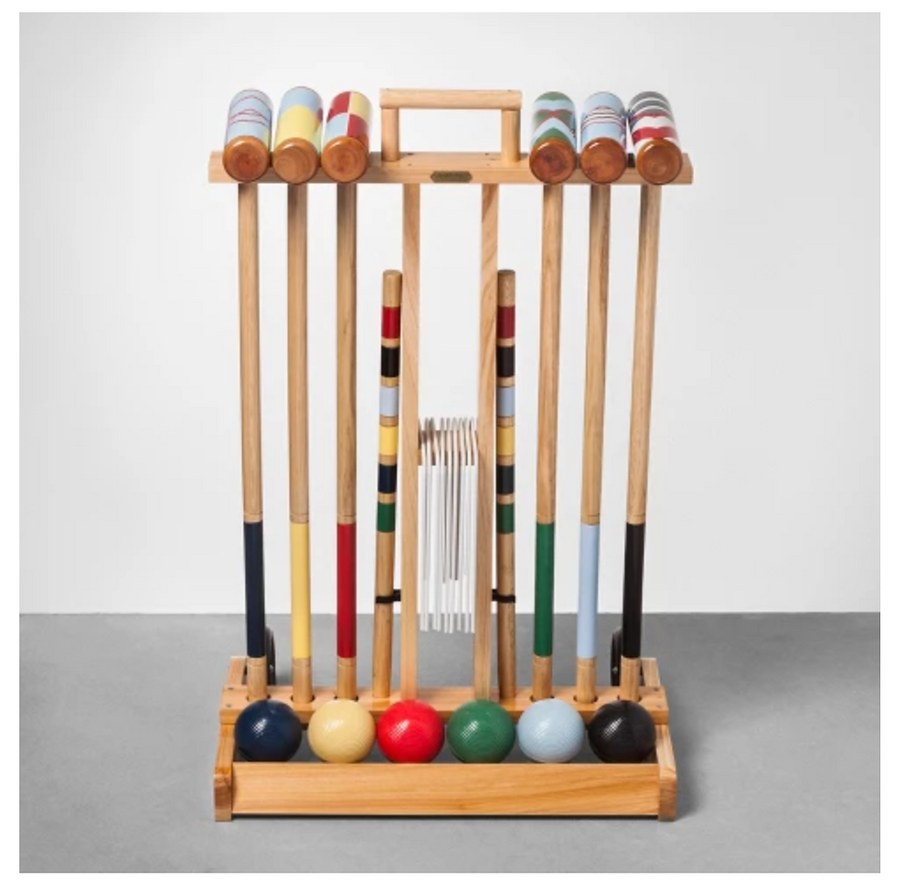 Who doesn't need a classic summer yard game? Not recommended for after rose all day :) , but a good game of croquet can add to your summer fun!
