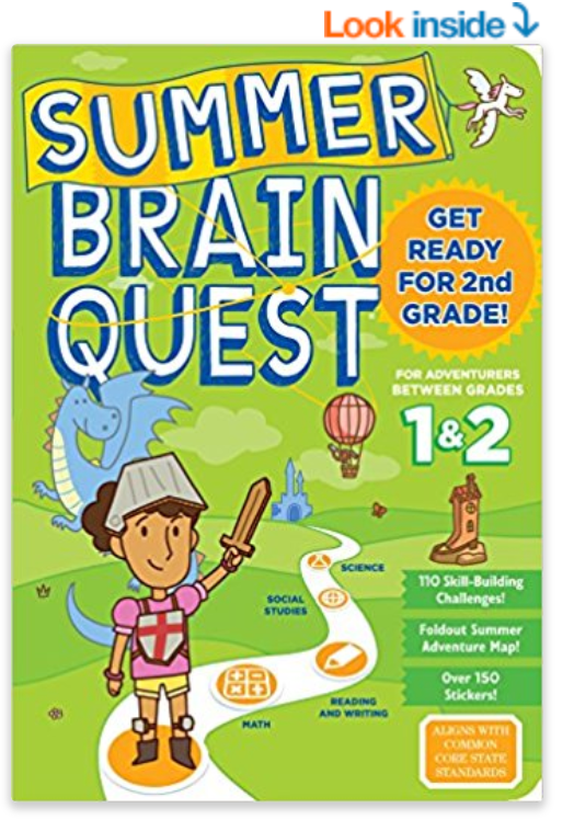 Summer Brain Quest! Great for keeping school material fresh, available for all grade levels!