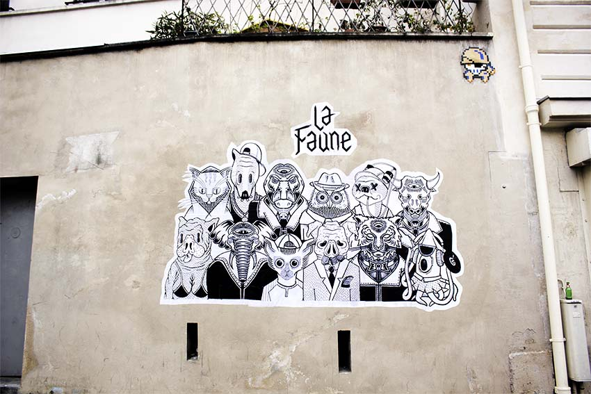 """La Faune"" in the street"