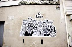 """La Faune"" in the street"