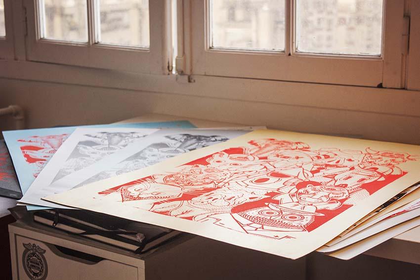 """""""La Faune"""" posters"""