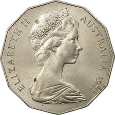50 cents Elizabeth II  Fifty Cents 1977 Silver Jubilee