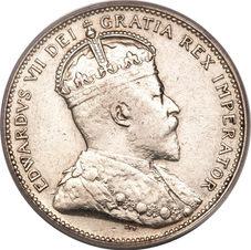 25 CENTS- Edward VII