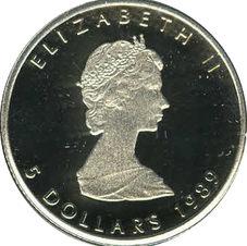 5 Dollar - Elizabeth II Platin Bullion